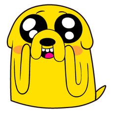 Adventure Time Amazed Jake Sticker