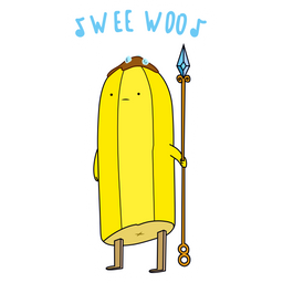 Adventure Time Banana Guard Wee Woo Sticker