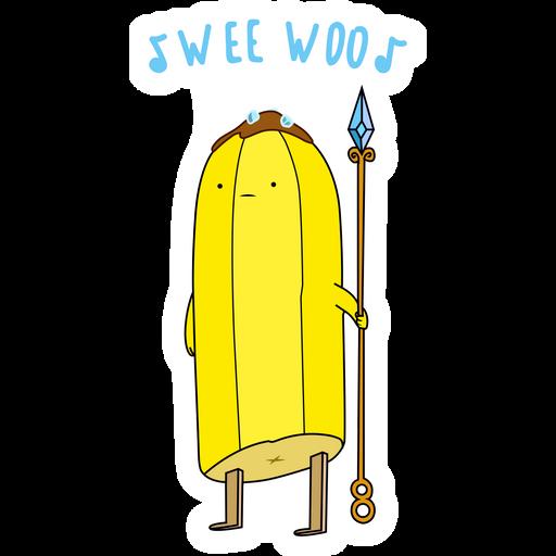 Adventure Time Banana Guard Wee Woo Sticker