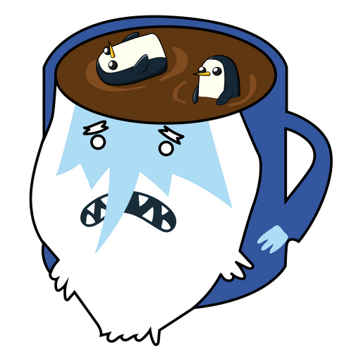 Adventure Time Ice King Tea Cup Sticker