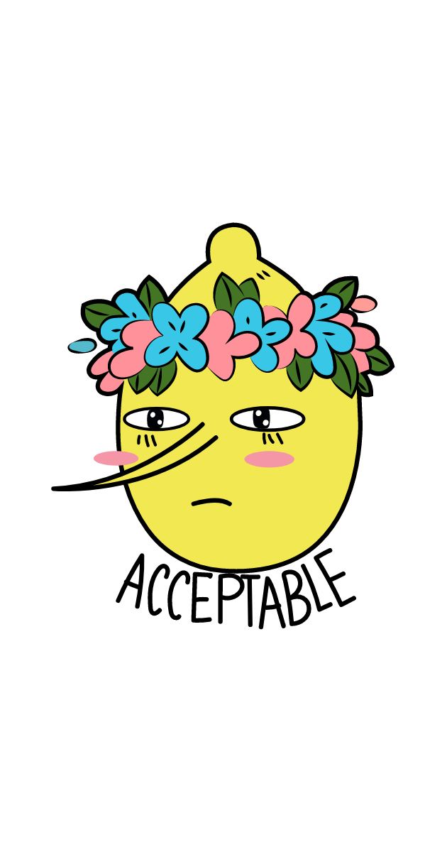 Adventure Time Lemongrab Acceptable Sticker