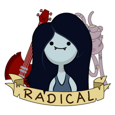 Adventure Time Marceline Radical Sticker
