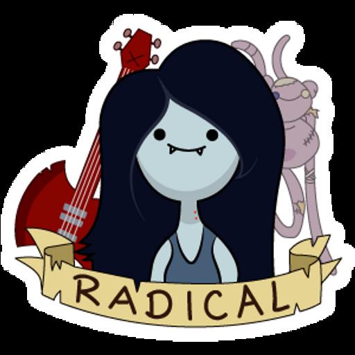 Adventure Time Marceline Radical Sticker
