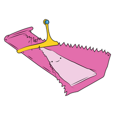 Adventure Time Princess Bubblegum Stick Sticker