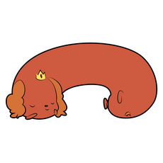 Adventure Time Sleeping Hot Dog Princess Sticker