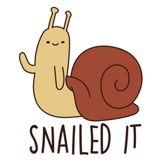 Adventure Time Snail Snailed It Sticker