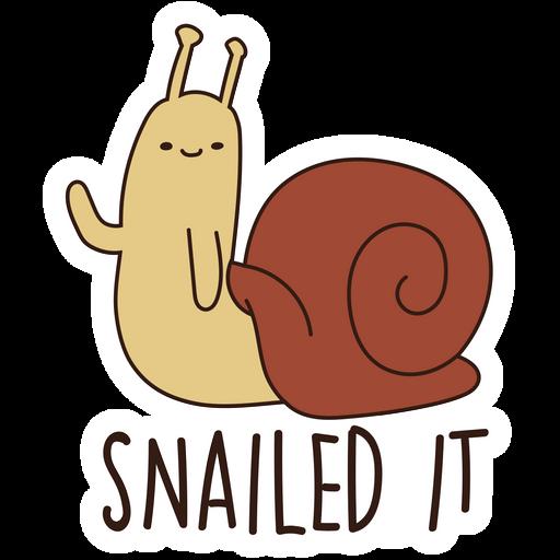 Adventure Time Snail Snailed It Sticker