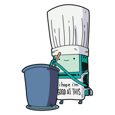 Adventure Time BMO Cooking Sticker