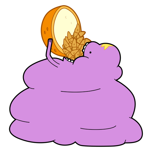 Adventure Time LSP Eating Snacks Sticker
