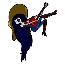 Adventure Time Marceline with Guitar Sticker