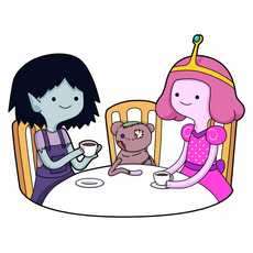 Tea Party Marceline and Bubblegum Sticker