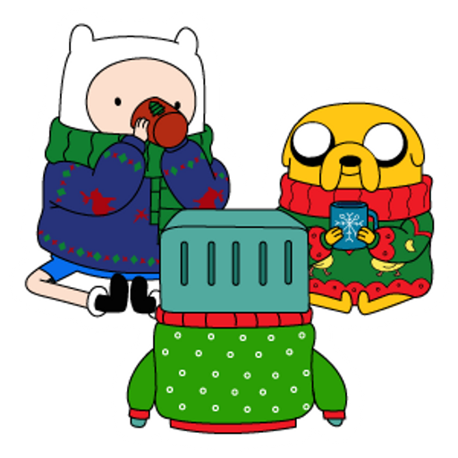Christmas Adventure Time Sticker