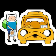 Finn and Jake Car Sticker
