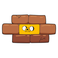 Adventure Time Jake the Brick Sticker