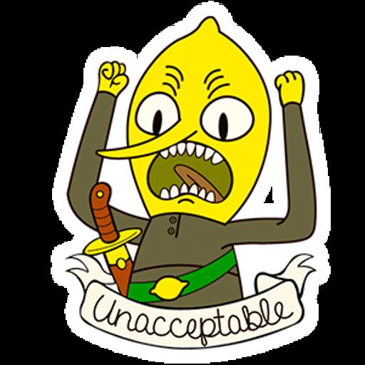 Adventure Time Lemongrab Unacceptable
