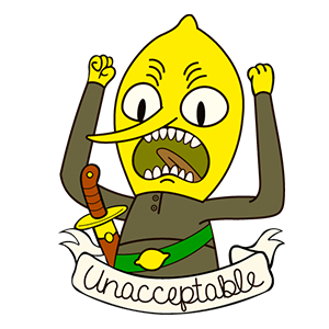 Adventure Time Lemongrab Unacceptable