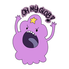 Adventure Time LSP Oh My Glob Sticker