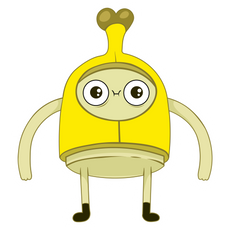 Adventure Time Banana Man Sticker
