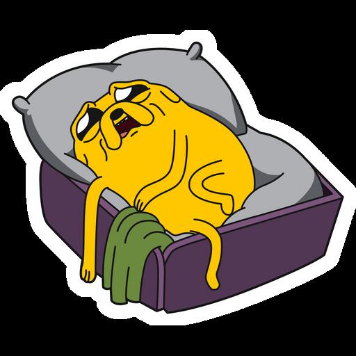 Adventure Time Sad Jake in Bed Sticker