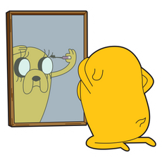 Adventure Time Jake the Dog Makeup Sticker