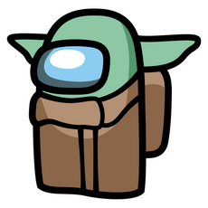 Among Us Baby Yoda Sticker
