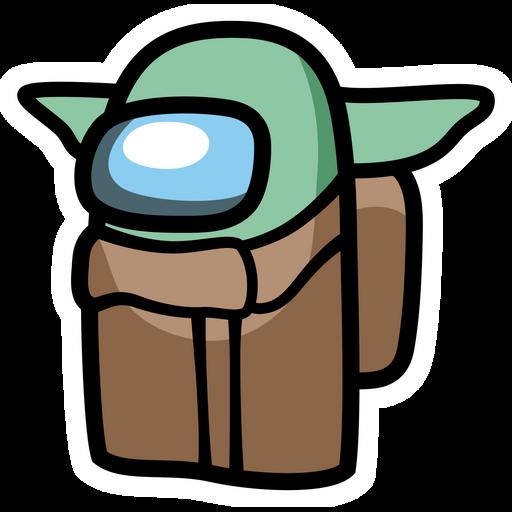 Among Us Baby Yoda Sticker