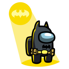 Among Us Batman Sticker