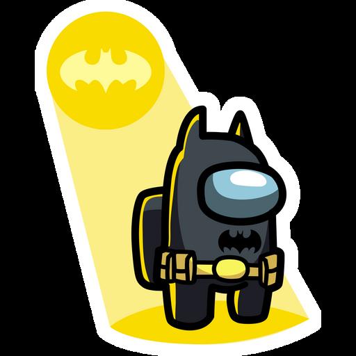 Among Us Batman Sticker