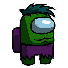 Among Us Hulk Sticker