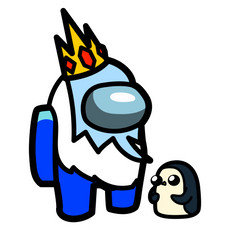 Among Us Ice King Character Sticker