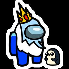 Among Us Ice King Character Sticker