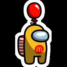 Among Us McDonald's Sticker