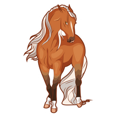 Brown Horse Sticker