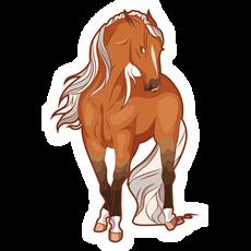 Brown Horse Sticker