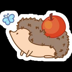 Cute Hedgehog Sticker