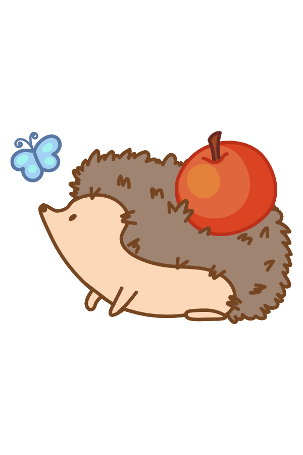 Cute Hedgehog Sticker