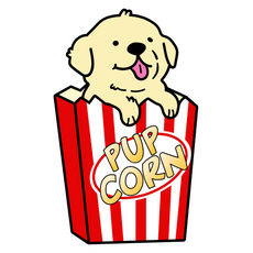 Cute PupCorn Sticker