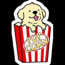 Cute PupCorn Sticker