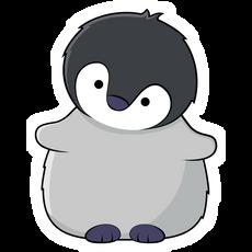 Little Grey Penguin Sticker