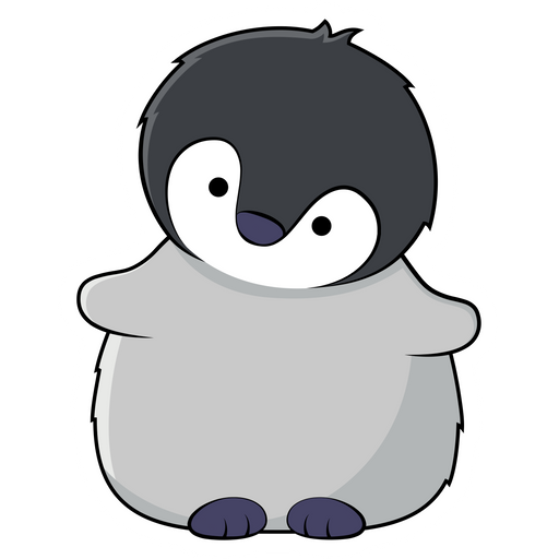 Little Grey Penguin Sticker