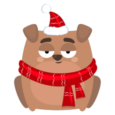 New Year Dog Sticker