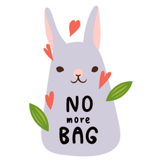 No More Bag Rabbit Sticker