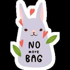 No More Bag Rabbit Sticker