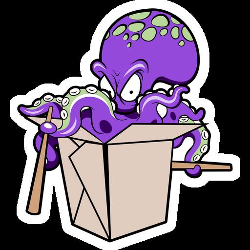 Octopus Noodles Surprise Sticker