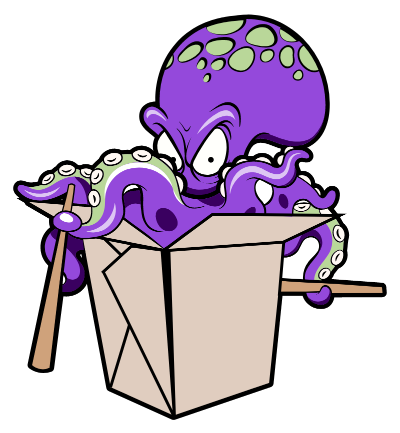 Octopus Noodles Surprise Sticker