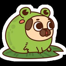 Puggle Pug Toad Sticker