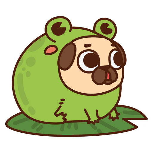 Puggle Pug Toad Sticker