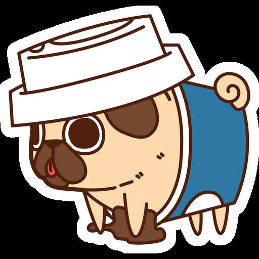 Puglie Pug Coffee Sticker