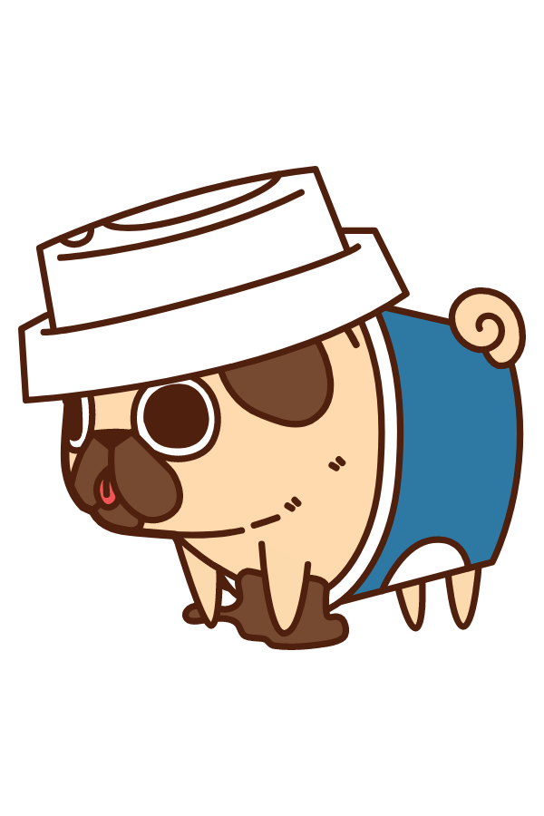 Puglie Pug Coffee Sticker