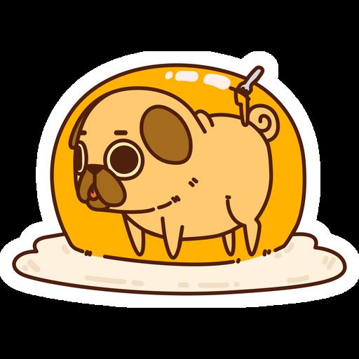 Puglie Pug Egg Sticker